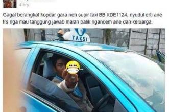 supir taksi blue bird arogan di jalan